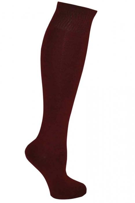 Monocromatico ginocchio bambù alti calzini delle donne