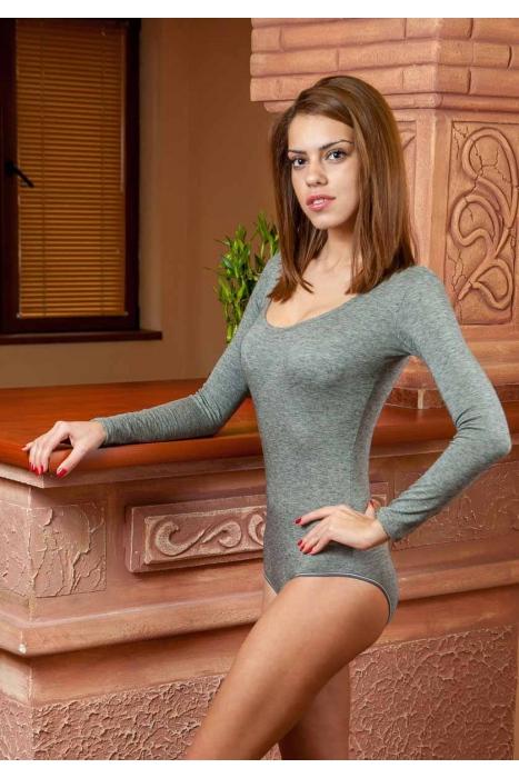 Lana Body girocollo maniche lunghe bikini stile 1980