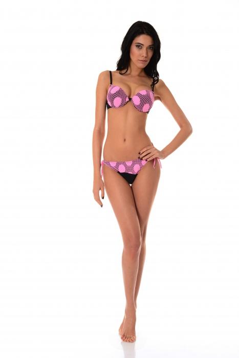 Bikini push up coppe duro e fondi cravatta sottile 1176
