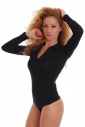 Donna Body Colletto aperto maniche Long Neck Thong Style 1769