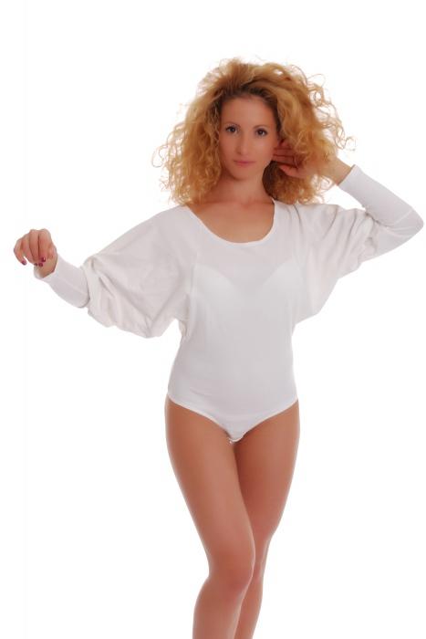 Collo a maniche lunghe signore termica Body rotonda Thong Style 15-88