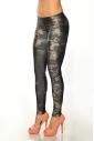 Leggings elastico delle donne stampano 1505-3