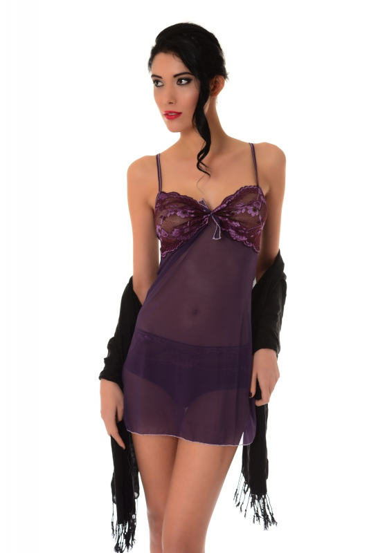 Tulle con il pizzo Babydoll 883