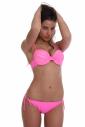 Bikini Push up con pizzo e cravatta sottile lato 1155