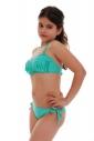 Minore Bikini Swimsuit fondi bando macrame nastri legame lato 1116