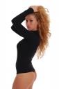 Body Collo a manica lunga da donne del cotone 1337