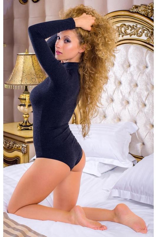 Lana Stile Body Collo lungo Bikini manica 1888