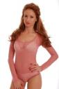 pizzo stile signore Body girocollo manica lunga 909 Bikini