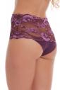 Elegante-Slip a vita alta Mutandine Lace Cotton 1046