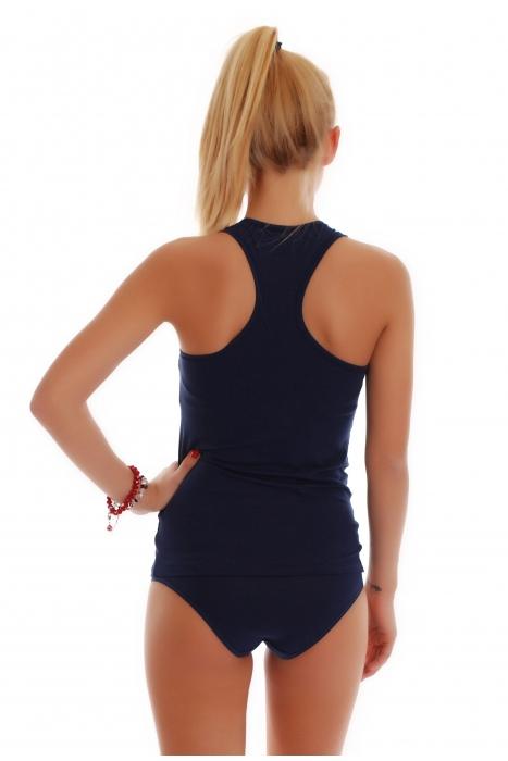 femminile Set Tank Top schiena scoperta e bikini Mutandine 1308-1027
