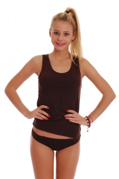 femminile Set Tank Top schiena scoperta e bikini Mutandine 1205-1027
