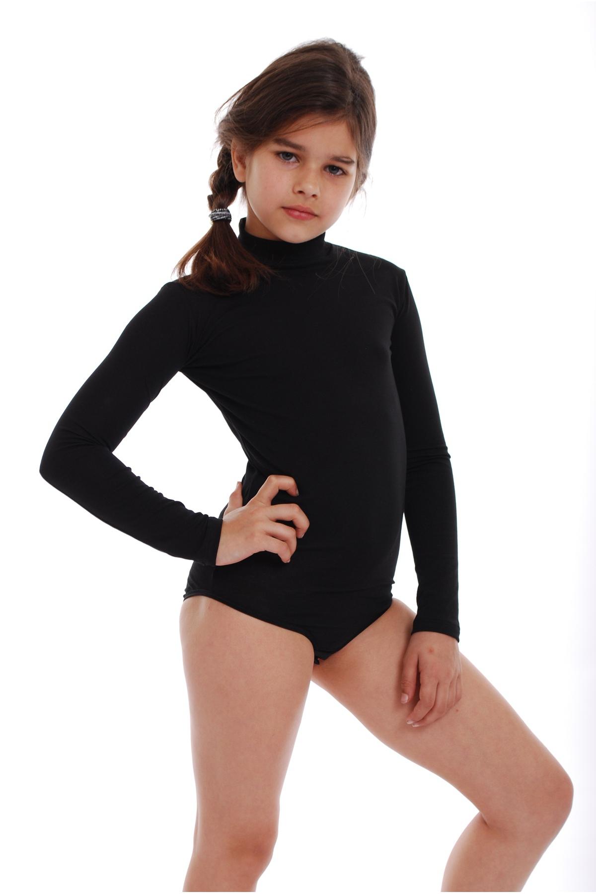 Le Ragazze Manica Lunga V Collo Body Top Bambini Leopardo Stampato Dance Wear Body