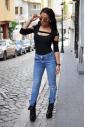 stravaganti Body 7/8 maniche delle donne del cotone perizoma 1441
