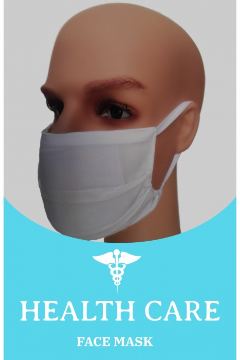 Face Mask - White with Filter option OEKO-TEX Cer. M10